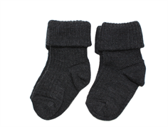 MP strømper uld dark grey (2-pack)